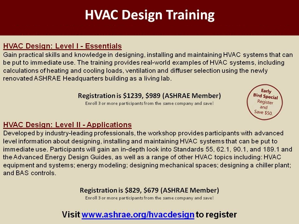 HVAC design courses